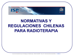 LEGISLACION CHILENA EN RADIOTERAPIA - Pages