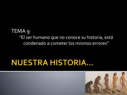 NUESTRA HISTORIA…