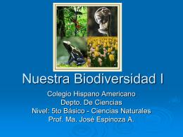 Nuestra Biodiversidad I