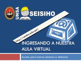 Ingresando a nuestra aula virtual