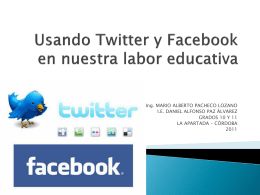 Usando Twitter y Facebook en nuestra labor educativa