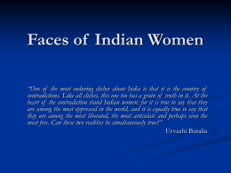 Faces of Indian Women - Sam Houston State University