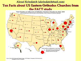 Ten Facts about US Eastern Orthodox Churches from the …