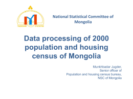 Data processing of 2000 population and housing census …