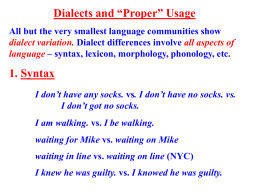 dialect. ppt - Homepages