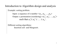 Introduction of Algorithm and its Analysis