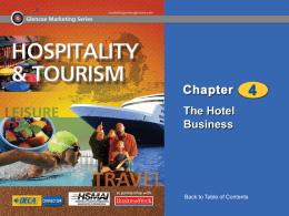 Hospitality and Tourism - Mrs.Smedley ECTA