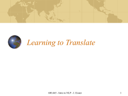 Lecture 32: Learning to Translate