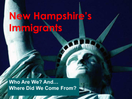 New Hampshire's Immigrants