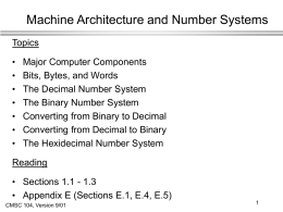 Architecture and Number Systems