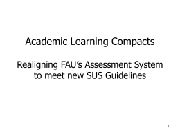 FAU's Response to FL State Requirements for Academic