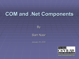 COM and .Net Components