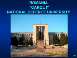 National Defense University of ROMANIA - UNAp
