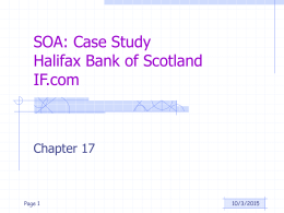 SOA: Case Study Halifax Bank of Scotland IF.com