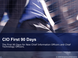 CIO First 90 Days - Modern Servant Leader
