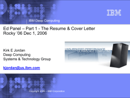 IBM Internal Notes