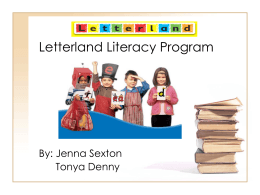 Letterland Literacy Program - Appalachian State University