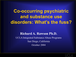 Co-occurring psychiatric and substance use disorders: …