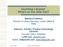 Gumshoe Librarian: What's on the other foot?