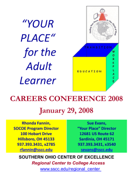 YOUR PLACE' Class - Center on Education and Work