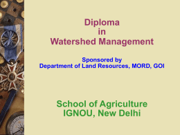 IGNOU - Department