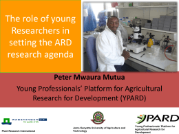 Youth Engagement in Agricultural Research for …