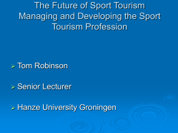 The Future of Sport Tourism Managing and Developing …