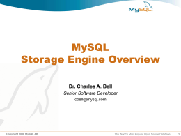 MySQL Cluster - Virginia Commonwealth University
