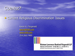 COEXIST? - Dallas Employment Law Attorneys