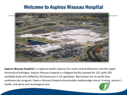 Aspirus Wausau Hospital Orientation Manual