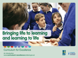 An introduction - Education Scotland