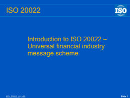 The success of ISO 20022