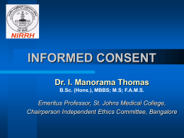 Guidelines on Informed Consent