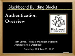 Authentication - Blackboard Inc.