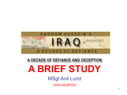 IRAQ - A Brief Study