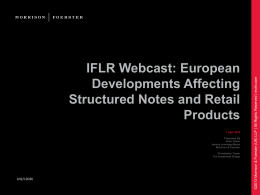IFLR Webcast: European Developments Affecting …