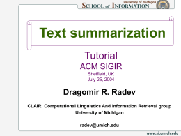 Tutorial - Text Summarization
