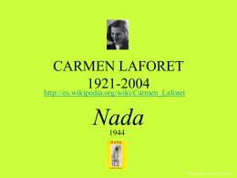 CARMEN LAFORET 1921-2004 - XTEC