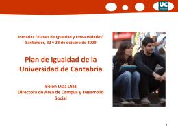 Plan de Igualdad de la Universidad de Cantabria
