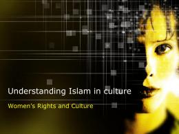 Understanding Islam in Culture - Winston