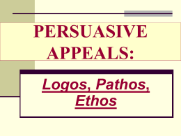 PERSUASIVE APPEALS: - Luzerne County Community …