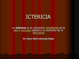 ICTERICIA - Blog 5 Semestre UCIMED I