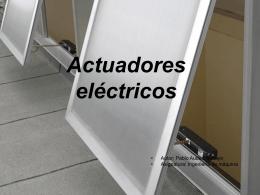 Actuadores - Universidad de Huelva
