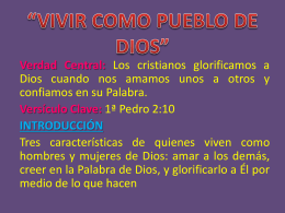 """VIVIR COMO PUEBLO DE DIOS"""""""
