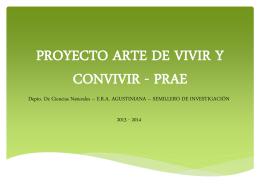 PROYECTO ARTE DE VIVIR Y CONVIVIR