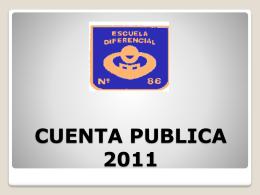 CUENTA PUBLICA 2012