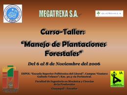 """Manejo de Plantaciones Forestales"""""""