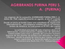 AGRIBRANDS PURINA PERU S. A. (PURINA)