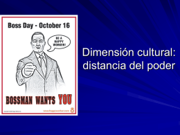 Cultural dimension: Power Distance