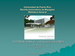 Universidad de Puerto Rico Recinto Universitario de